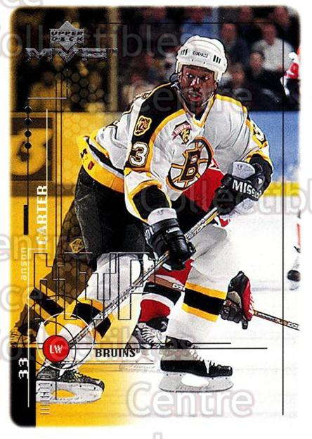 1998-99 Upper Deck MVP #18 Anson Carter<br/>14 In Stock - $1.00 each - <a href=https://centericecollectibles.foxycart.com/cart?name=1998-99%20Upper%20Deck%20MVP%20%2318%20Anson%20Carter...&quantity_max=14&price=$1.00&code=73063 class=foxycart> Buy it now! </a>