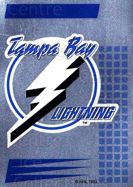 1992-93 Panini Stickers French #266 Tampa Bay Lightning<br/>1 In Stock - $5.00 each - <a href=https://centericecollectibles.foxycart.com/cart?name=1992-93%20Panini%20Stickers%20French%20%23266%20Tampa%20Bay%20Light...&quantity_max=1&price=$5.00&code=730648 class=foxycart> Buy it now! </a>