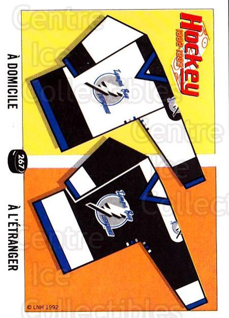 1992-93 Panini Stickers French #267 Tampa Bay Lightning<br/>6 In Stock - $5.00 each - <a href=https://centericecollectibles.foxycart.com/cart?name=1992-93%20Panini%20Stickers%20French%20%23267%20Tampa%20Bay%20Light...&quantity_max=6&price=$5.00&code=730649 class=foxycart> Buy it now! </a>