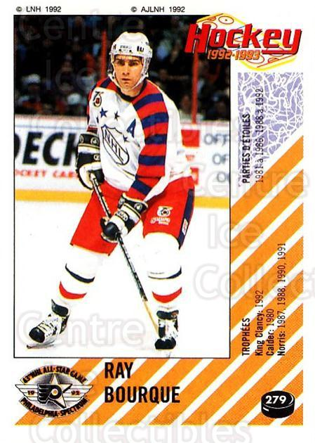 1992-93 Panini Stickers French #279 Ray Bourque<br/>1 In Stock - $20.00 each - <a href=https://centericecollectibles.foxycart.com/cart?name=1992-93%20Panini%20Stickers%20French%20%23279%20Ray%20Bourque...&quantity_max=1&price=$20.00&code=730659 class=foxycart> Buy it now! </a>