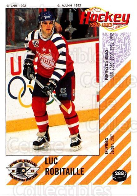 1992-93 Panini Stickers French #288 Luc Robitaille<br/>3 In Stock - $10.00 each - <a href=https://centericecollectibles.foxycart.com/cart?name=1992-93%20Panini%20Stickers%20French%20%23288%20Luc%20Robitaille...&quantity_max=3&price=$10.00&code=730665 class=foxycart> Buy it now! </a>