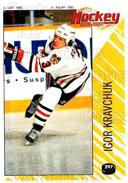 1992-93 Panini Stickers French #297 Igor Kravchuk<br/>5 In Stock - $10.00 each - <a href=https://centericecollectibles.foxycart.com/cart?name=1992-93%20Panini%20Stickers%20French%20%23297%20Igor%20Kravchuk...&quantity_max=5&price=$10.00&code=730670 class=foxycart> Buy it now! </a>