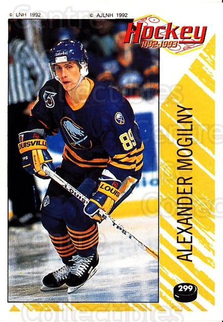 1992-93 Panini Stickers French #299 Alexander Mogilny<br/>5 In Stock - $20.00 each - <a href=https://centericecollectibles.foxycart.com/cart?name=1992-93%20Panini%20Stickers%20French%20%23299%20Alexander%20Mogil...&quantity_max=5&price=$20.00&code=730671 class=foxycart> Buy it now! </a>