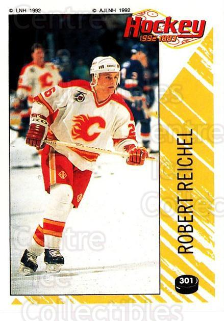 1992-93 Panini Stickers French #301 Robert Reichel<br/>5 In Stock - $10.00 each - <a href=https://centericecollectibles.foxycart.com/cart?name=1992-93%20Panini%20Stickers%20French%20%23301%20Robert%20Reichel...&quantity_max=5&price=$10.00&code=730675 class=foxycart> Buy it now! </a>