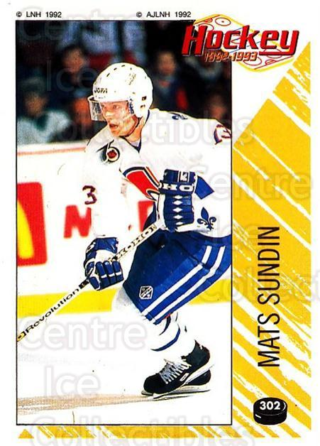 1992-93 Panini Stickers French #302 Mats Sundin<br/>4 In Stock - $20.00 each - <a href=https://centericecollectibles.foxycart.com/cart?name=1992-93%20Panini%20Stickers%20French%20%23302%20Mats%20Sundin...&quantity_max=4&price=$20.00&code=730676 class=foxycart> Buy it now! </a>