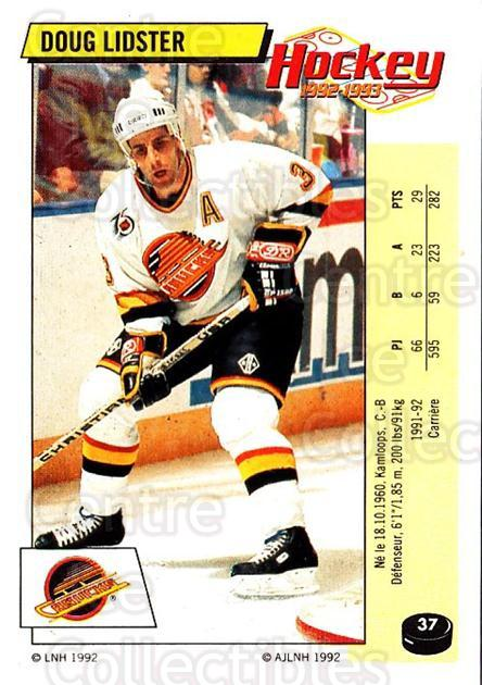 1992-93 Panini Stickers French #37 Doug Lidster<br/>11 In Stock - $5.00 each - <a href=https://centericecollectibles.foxycart.com/cart?name=1992-93%20Panini%20Stickers%20French%20%2337%20Doug%20Lidster...&quantity_max=11&price=$5.00&code=730689 class=foxycart> Buy it now! </a>