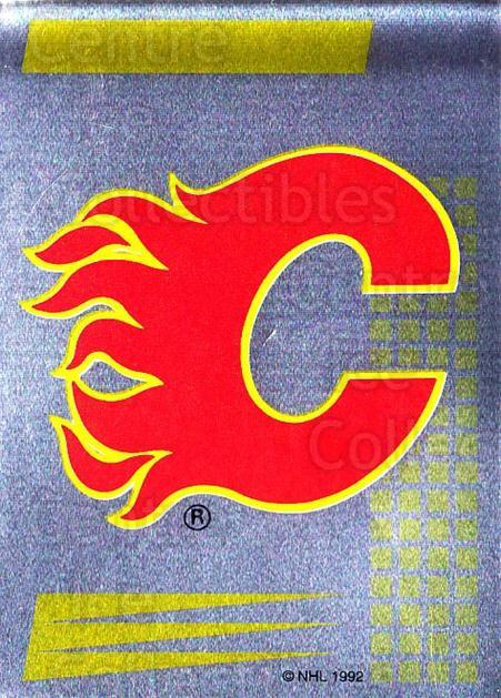 1992-93 Panini Stickers French #38 Calgary Flames<br/>2 In Stock - $5.00 each - <a href=https://centericecollectibles.foxycart.com/cart?name=1992-93%20Panini%20Stickers%20French%20%2338%20Calgary%20Flames...&quantity_max=2&price=$5.00&code=730690 class=foxycart> Buy it now! </a>