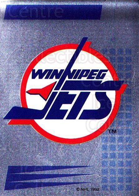 1992-93 Panini Stickers French #50 Winnipeg Jets<br/>2 In Stock - $5.00 each - <a href=https://centericecollectibles.foxycart.com/cart?name=1992-93%20Panini%20Stickers%20French%20%2350%20Winnipeg%20Jets...&quantity_max=2&price=$5.00&code=730703 class=foxycart> Buy it now! </a>