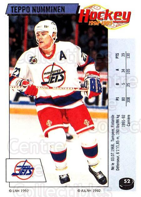 1992-93 Panini Stickers French #52 Teppo Numminen<br/>6 In Stock - $10.00 each - <a href=https://centericecollectibles.foxycart.com/cart?name=1992-93%20Panini%20Stickers%20French%20%2352%20Teppo%20Numminen...&quantity_max=6&price=$10.00&code=730705 class=foxycart> Buy it now! </a>