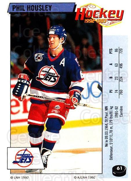 1992-93 Panini Stickers French #61 Phil Housley<br/>2 In Stock - $5.00 each - <a href=https://centericecollectibles.foxycart.com/cart?name=1992-93%20Panini%20Stickers%20French%20%2361%20Phil%20Housley...&quantity_max=2&price=$5.00&code=730715 class=foxycart> Buy it now! </a>