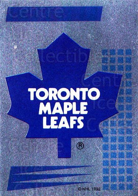 1992-93 Panini Stickers French #74 Toronto Maple Leafs<br/>5 In Stock - $5.00 each - <a href=https://centericecollectibles.foxycart.com/cart?name=1992-93%20Panini%20Stickers%20French%20%2374%20Toronto%20Maple%20L...&quantity_max=5&price=$5.00&code=730728 class=foxycart> Buy it now! </a>