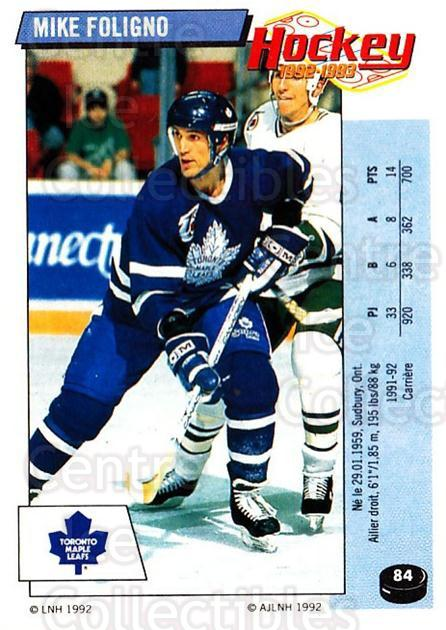 1992-93 Panini Stickers French #84 Mike Foligno<br/>1 In Stock - $5.00 each - <a href=https://centericecollectibles.foxycart.com/cart?name=1992-93%20Panini%20Stickers%20French%20%2384%20Mike%20Foligno...&quantity_max=1&price=$5.00&code=730739 class=foxycart> Buy it now! </a>