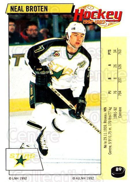 1992-93 Panini Stickers French #89 Neal Broten<br/>3 In Stock - $5.00 each - <a href=https://centericecollectibles.foxycart.com/cart?name=1992-93%20Panini%20Stickers%20French%20%2389%20Neal%20Broten...&quantity_max=3&price=$5.00&code=730744 class=foxycart> Buy it now! </a>