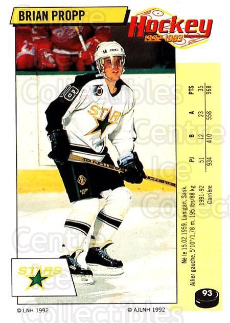 1992-93 Panini Stickers French #93 Brian Propp<br/>4 In Stock - $5.00 each - <a href=https://centericecollectibles.foxycart.com/cart?name=1992-93%20Panini%20Stickers%20French%20%2393%20Brian%20Propp...&quantity_max=4&price=$5.00&code=730749 class=foxycart> Buy it now! </a>