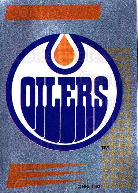 1992-93 Panini Stickers French #98 Edmonton Oilers<br/>4 In Stock - $5.00 each - <a href=https://centericecollectibles.foxycart.com/cart?name=1992-93%20Panini%20Stickers%20French%20%2398%20Edmonton%20Oilers...&quantity_max=4&price=$5.00&code=730754 class=foxycart> Buy it now! </a>
