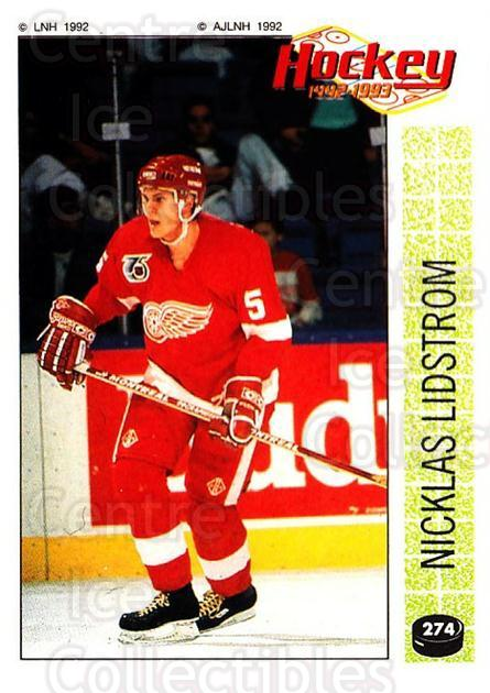 1992-93 Panini Stickers French #274 Nicklas Lidstrom<br/>5 In Stock - $20.00 each - <a href=https://centericecollectibles.foxycart.com/cart?name=1992-93%20Panini%20Stickers%20French%20%23274%20Nicklas%20Lidstro...&quantity_max=5&price=$20.00&code=730757 class=foxycart> Buy it now! </a>