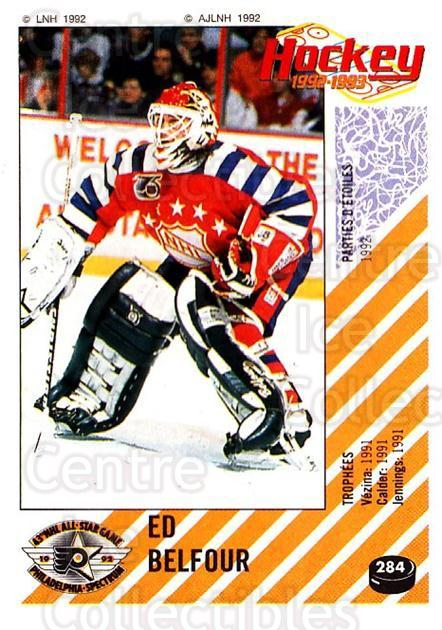 1992-93 Panini Stickers French #284 Ed Belfour<br/>2 In Stock - $30.00 each - <a href=https://centericecollectibles.foxycart.com/cart?name=1992-93%20Panini%20Stickers%20French%20%23284%20Ed%20Belfour...&quantity_max=2&price=$30.00&code=730770 class=foxycart> Buy it now! </a>