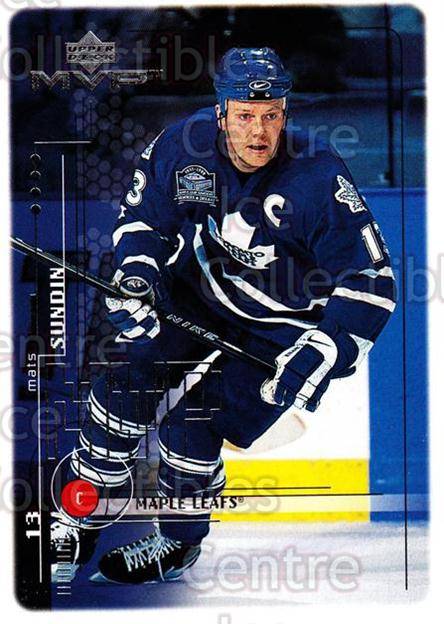 1998-99 Upper Deck MVP #195 Mats Sundin<br/>13 In Stock - $1.00 each - <a href=https://centericecollectibles.foxycart.com/cart?name=1998-99%20Upper%20Deck%20MVP%20%23195%20Mats%20Sundin...&quantity_max=13&price=$1.00&code=73080 class=foxycart> Buy it now! </a>