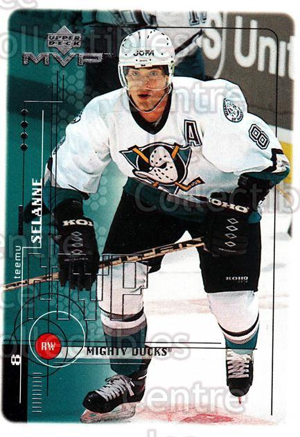 1998-99 Upper Deck MVP #2 Teemu Selanne<br/>13 In Stock - $2.00 each - <a href=https://centericecollectibles.foxycart.com/cart?name=1998-99%20Upper%20Deck%20MVP%20%232%20Teemu%20Selanne...&quantity_max=13&price=$2.00&code=73085 class=foxycart> Buy it now! </a>