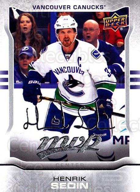 2014-15 Upper Deck Mvp Silver Script #232 Henrik Sedin<br/>1 In Stock - $2.00 each - <a href=https://centericecollectibles.foxycart.com/cart?name=2014-15%20Upper%20Deck%20Mvp%20Silver%20Script%20%23232%20Henrik%20Sedin...&quantity_max=1&price=$2.00&code=731008 class=foxycart> Buy it now! </a>