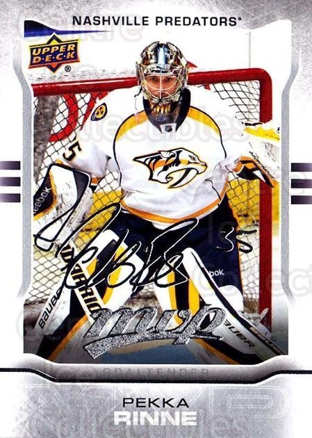 2014-15 Upper Deck Mvp Silver Script #268 Pekka Rinne<br/>1 In Stock - $2.00 each - <a href=https://centericecollectibles.foxycart.com/cart?name=2014-15%20Upper%20Deck%20Mvp%20Silver%20Script%20%23268%20Pekka%20Rinne...&quantity_max=1&price=$2.00&code=731044 class=foxycart> Buy it now! </a>
