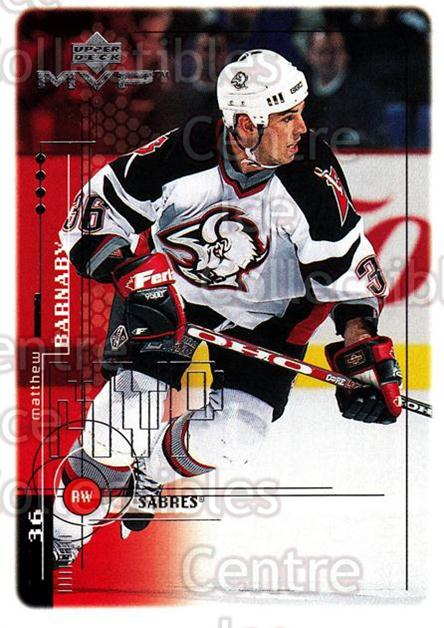 1998-99 Upper Deck MVP #22 Matthew Barnaby<br/>14 In Stock - $1.00 each - <a href=https://centericecollectibles.foxycart.com/cart?name=1998-99%20Upper%20Deck%20MVP%20%2322%20Matthew%20Barnaby...&quantity_max=14&price=$1.00&code=73108 class=foxycart> Buy it now! </a>