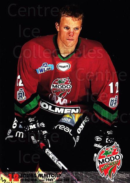 2003-04 Swedish MODO Hockey Postcards #2 Jonas Almtorp<br/>1 In Stock - $3.00 each - <a href=https://centericecollectibles.foxycart.com/cart?name=2003-04%20Swedish%20MODO%20Hockey%20Postcards%20%232%20Jonas%20Almtorp...&quantity_max=1&price=$3.00&code=731160 class=foxycart> Buy it now! </a>