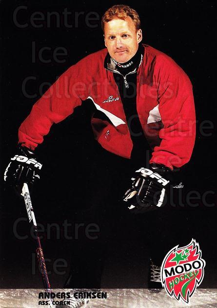 2003-04 Swedish MODO Hockey Postcards #4 Anders Eriksen<br/>1 In Stock - $3.00 each - <a href=https://centericecollectibles.foxycart.com/cart?name=2003-04%20Swedish%20MODO%20Hockey%20Postcards%20%234%20Anders%20Eriksen...&quantity_max=1&price=$3.00&code=731162 class=foxycart> Buy it now! </a>