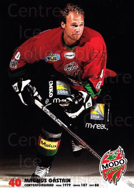 2003-04 Swedish MODO Hockey Postcards #6 Magnus Gastrin<br/>1 In Stock - $3.00 each - <a href=https://centericecollectibles.foxycart.com/cart?name=2003-04%20Swedish%20MODO%20Hockey%20Postcards%20%236%20Magnus%20Gastrin...&quantity_max=1&price=$3.00&code=731164 class=foxycart> Buy it now! </a>