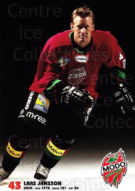 2003-04 Swedish MODO Hockey Postcards #11 Lars Jansson<br/>1 In Stock - $3.00 each - <a href=https://centericecollectibles.foxycart.com/cart?name=2003-04%20Swedish%20MODO%20Hockey%20Postcards%20%2311%20Lars%20Jansson...&quantity_max=1&price=$3.00&code=731169 class=foxycart> Buy it now! </a>
