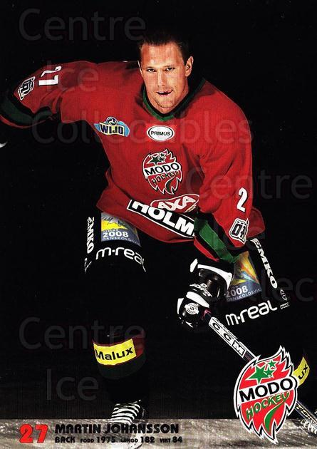 2003-04 Swedish MODO Hockey Postcards #12 Martin Johansson<br/>1 In Stock - $3.00 each - <a href=https://centericecollectibles.foxycart.com/cart?name=2003-04%20Swedish%20MODO%20Hockey%20Postcards%20%2312%20Martin%20Johansso...&quantity_max=1&price=$3.00&code=731170 class=foxycart> Buy it now! </a>