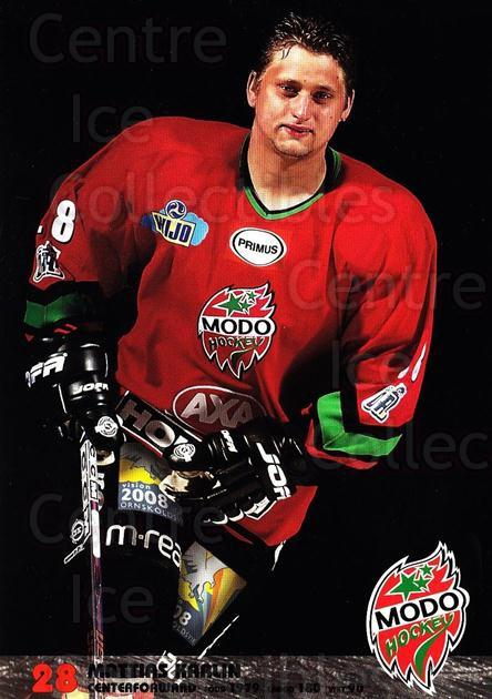 2003-04 Swedish MODO Hockey Postcards #13 mattias Karlin<br/>1 In Stock - $3.00 each - <a href=https://centericecollectibles.foxycart.com/cart?name=2003-04%20Swedish%20MODO%20Hockey%20Postcards%20%2313%20mattias%20Karlin...&quantity_max=1&price=$3.00&code=731171 class=foxycart> Buy it now! </a>