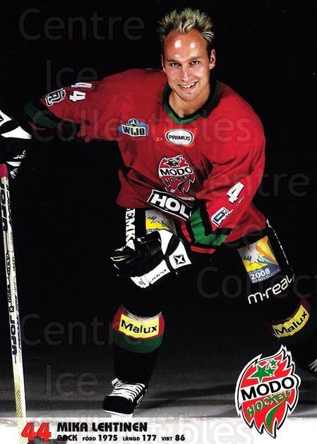 2003-04 Swedish MODO Hockey Postcards #14 Mika Lehtinen<br/>1 In Stock - $3.00 each - <a href=https://centericecollectibles.foxycart.com/cart?name=2003-04%20Swedish%20MODO%20Hockey%20Postcards%20%2314%20Mika%20Lehtinen...&quantity_max=1&price=$3.00&code=731172 class=foxycart> Buy it now! </a>