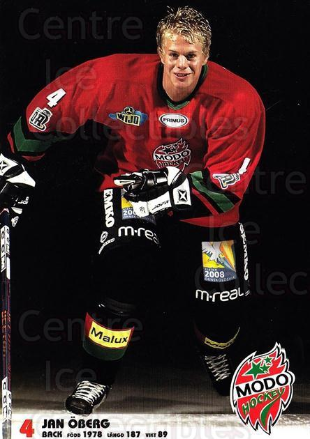 2003-04 Swedish MODO Hockey Postcards #17 Jan Oberg<br/>1 In Stock - $3.00 each - <a href=https://centericecollectibles.foxycart.com/cart?name=2003-04%20Swedish%20MODO%20Hockey%20Postcards%20%2317%20Jan%20Oberg...&quantity_max=1&price=$3.00&code=731175 class=foxycart> Buy it now! </a>