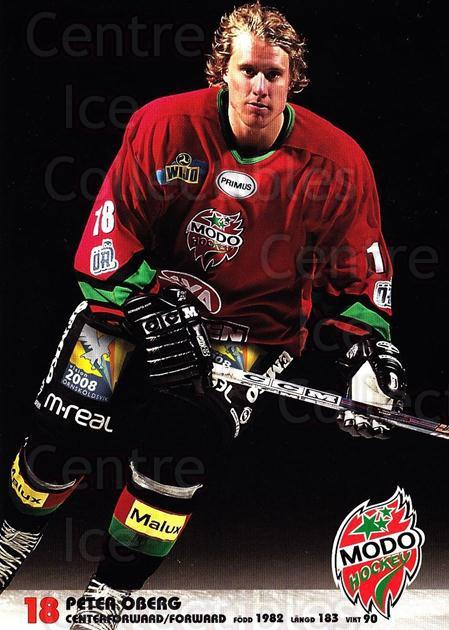 2003-04 Swedish MODO Hockey Postcards #18 Peter Oberg<br/>1 In Stock - $3.00 each - <a href=https://centericecollectibles.foxycart.com/cart?name=2003-04%20Swedish%20MODO%20Hockey%20Postcards%20%2318%20Peter%20Oberg...&quantity_max=1&price=$3.00&code=731176 class=foxycart> Buy it now! </a>