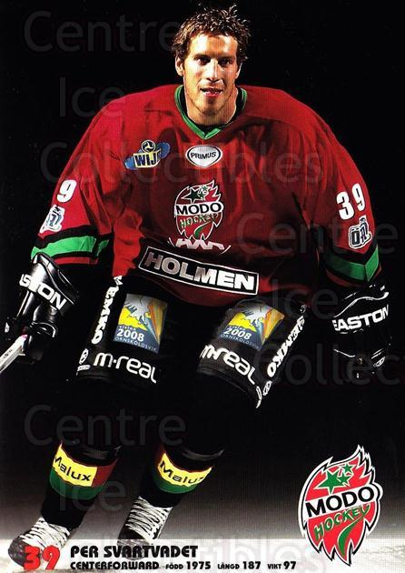 2003-04 Swedish MODO Hockey Postcards #23 Per Svartvadet<br/>1 In Stock - $3.00 each - <a href=https://centericecollectibles.foxycart.com/cart?name=2003-04%20Swedish%20MODO%20Hockey%20Postcards%20%2323%20Per%20Svartvadet...&quantity_max=1&price=$3.00&code=731181 class=foxycart> Buy it now! </a>