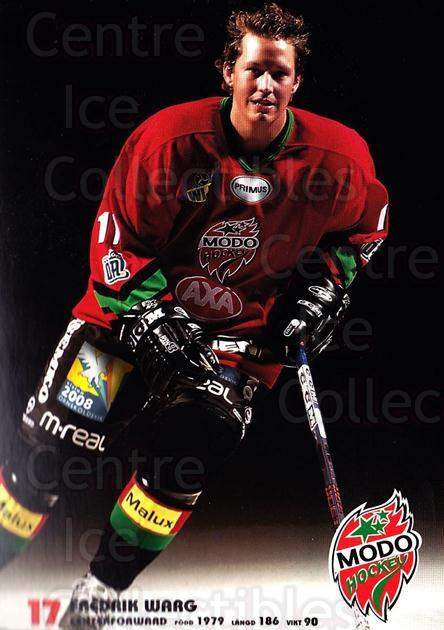 2003-04 Swedish MODO Hockey Postcards #25 Fredrik Warg<br/>1 In Stock - $3.00 each - <a href=https://centericecollectibles.foxycart.com/cart?name=2003-04%20Swedish%20MODO%20Hockey%20Postcards%20%2325%20Fredrik%20Warg...&quantity_max=1&price=$3.00&code=731183 class=foxycart> Buy it now! </a>