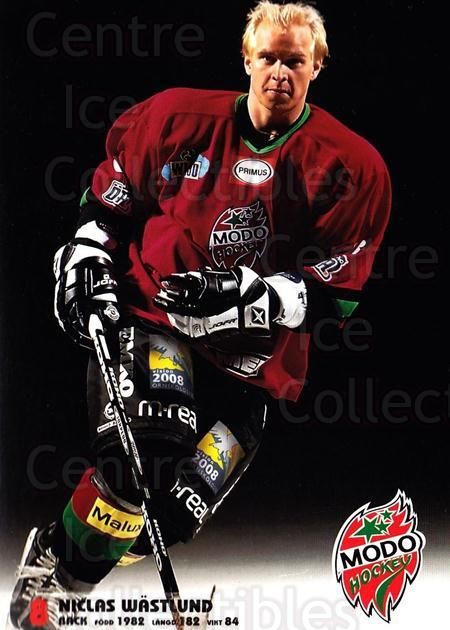 2003-04 Swedish MODO Hockey Postcards #26 Nklas Wastlund<br/>1 In Stock - $3.00 each - <a href=https://centericecollectibles.foxycart.com/cart?name=2003-04%20Swedish%20MODO%20Hockey%20Postcards%20%2326%20Nklas%20Wastlund...&quantity_max=1&price=$3.00&code=731184 class=foxycart> Buy it now! </a>