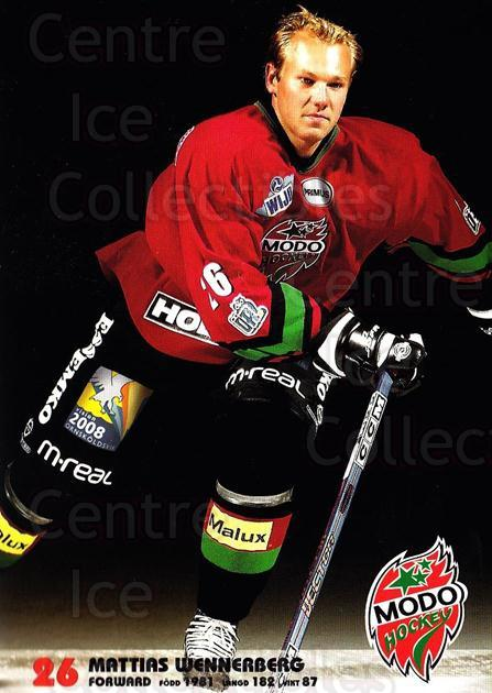2003-04 Swedish MODO Hockey Postcards #27 Mattias Wennerberg<br/>1 In Stock - $3.00 each - <a href=https://centericecollectibles.foxycart.com/cart?name=2003-04%20Swedish%20MODO%20Hockey%20Postcards%20%2327%20Mattias%20Wennerb...&quantity_max=1&price=$3.00&code=731185 class=foxycart> Buy it now! </a>