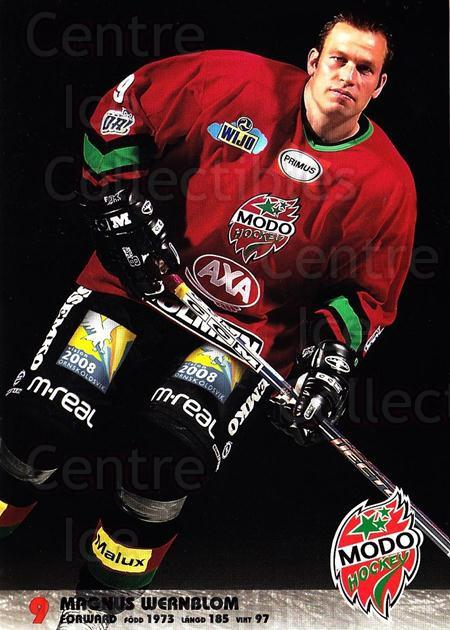 2003-04 Swedish MODO Hockey Postcards #28 Magnus Wernblom<br/>1 In Stock - $3.00 each - <a href=https://centericecollectibles.foxycart.com/cart?name=2003-04%20Swedish%20MODO%20Hockey%20Postcards%20%2328%20Magnus%20Wernblom...&quantity_max=1&price=$3.00&code=731186 class=foxycart> Buy it now! </a>