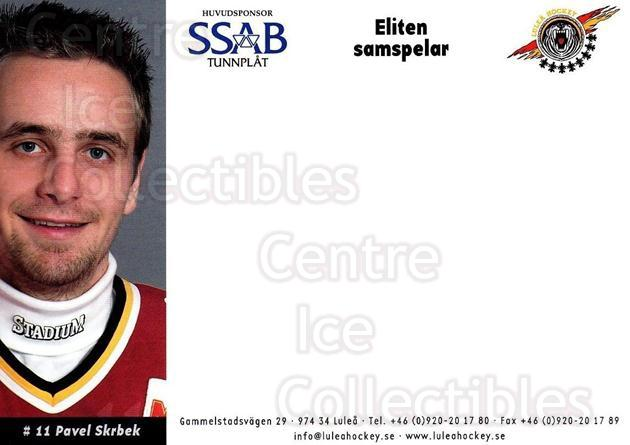 2003-04 Swedish Lulea Hockey Postcards #22 Pavel Skrbek<br/>2 In Stock - $3.00 each - <a href=https://centericecollectibles.foxycart.com/cart?name=2003-04%20Swedish%20Lulea%20Hockey%20Postcards%20%2322%20Pavel%20Skrbek...&quantity_max=2&price=$3.00&code=731231 class=foxycart> Buy it now! </a>