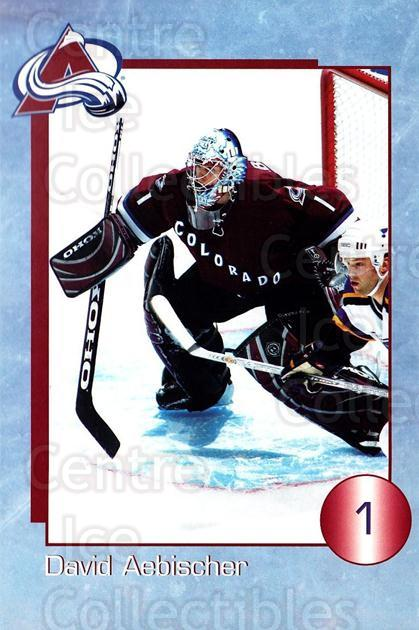 2003-04 Colorado Avalanche Postcards #1 David Aebischer<br/>1 In Stock - $3.00 each - <a href=https://centericecollectibles.foxycart.com/cart?name=2003-04%20Colorado%20Avalanche%20Postcards%20%231%20David%20Aebischer...&quantity_max=1&price=$3.00&code=731261 class=foxycart> Buy it now! </a>