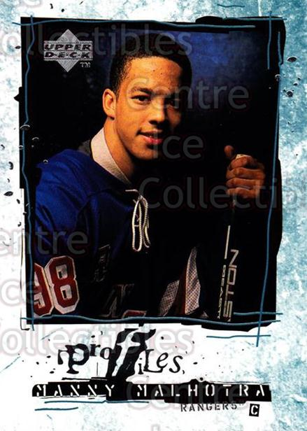 1998-99 Upper Deck Profiles #12 Manny Malhotra<br/>12 In Stock - $2.00 each - <a href=https://centericecollectibles.foxycart.com/cart?name=1998-99%20Upper%20Deck%20Profiles%20%2312%20Manny%20Malhotra...&quantity_max=12&price=$2.00&code=73127 class=foxycart> Buy it now! </a>