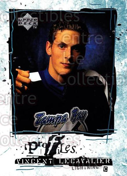 1998-99 Upper Deck Profiles #16 Vincent Lecavalier<br/>5 In Stock - $2.00 each - <a href=https://centericecollectibles.foxycart.com/cart?name=1998-99%20Upper%20Deck%20Profiles%20%2316%20Vincent%20Lecaval...&quantity_max=5&price=$2.00&code=73131 class=foxycart> Buy it now! </a>