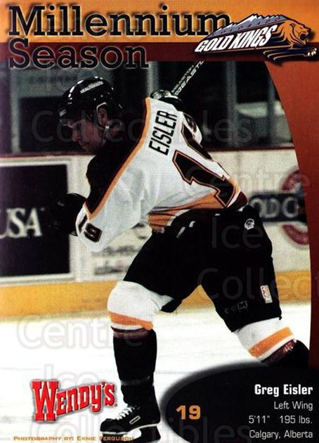 1999-00 Colorado Gold Kings Postcards #1 Greg Eisler<br/>1 In Stock - $5.00 each - <a href=https://centericecollectibles.foxycart.com/cart?name=1999-00%20Colorado%20Gold%20Kings%20Postcards%20%231%20Greg%20Eisler...&quantity_max=1&price=$5.00&code=731386 class=foxycart> Buy it now! </a>
