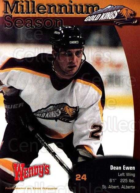 1999-00 Colorado Gold Kings Postcards #3 Dean Ewen<br/>1 In Stock - $5.00 each - <a href=https://centericecollectibles.foxycart.com/cart?name=1999-00%20Colorado%20Gold%20Kings%20Postcards%20%233%20Dean%20Ewen...&quantity_max=1&price=$5.00&code=731388 class=foxycart> Buy it now! </a>