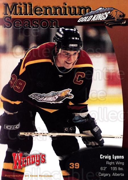 1999-00 Colorado Gold Kings Postcards #6 Craig Lyons<br/>1 In Stock - $5.00 each - <a href=https://centericecollectibles.foxycart.com/cart?name=1999-00%20Colorado%20Gold%20Kings%20Postcards%20%236%20Craig%20Lyons...&quantity_max=1&price=$5.00&code=731391 class=foxycart> Buy it now! </a>