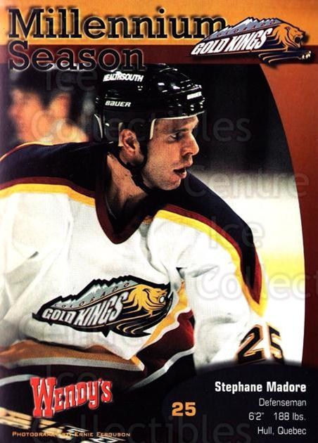 1999-00 Colorado Gold Kings Postcards #7 Stephane Madore<br/>1 In Stock - $5.00 each - <a href=https://centericecollectibles.foxycart.com/cart?name=1999-00%20Colorado%20Gold%20Kings%20Postcards%20%237%20Stephane%20Madore...&quantity_max=1&price=$5.00&code=731392 class=foxycart> Buy it now! </a>
