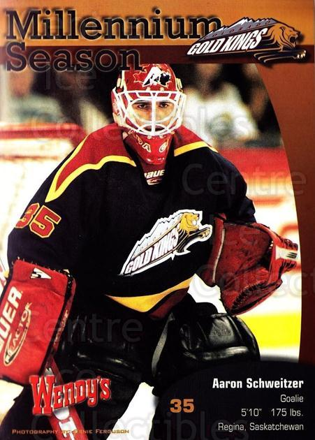1999-00 Colorado Gold Kings Postcards #11 Aaron Schweitzer<br/>1 In Stock - $5.00 each - <a href=https://centericecollectibles.foxycart.com/cart?name=1999-00%20Colorado%20Gold%20Kings%20Postcards%20%2311%20Aaron%20Schweitze...&quantity_max=1&price=$5.00&code=731396 class=foxycart> Buy it now! </a>