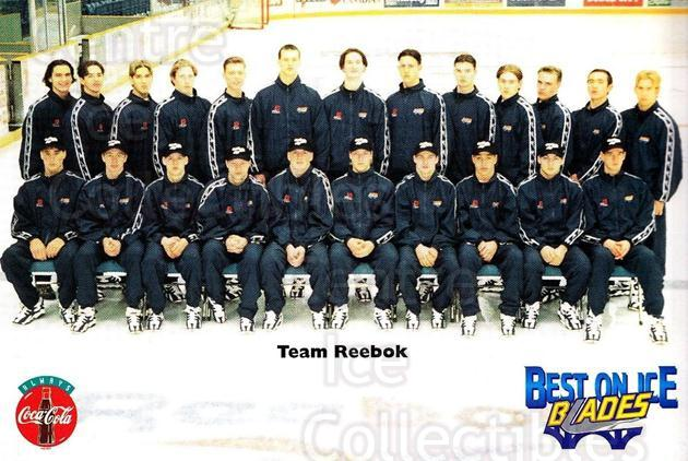 1996-97 Saskatoon Blades Postcards #24 Team Photo<br/>1 In Stock - $3.00 each - <a href=https://centericecollectibles.foxycart.com/cart?name=1996-97%20Saskatoon%20Blades%20Postcards%20%2324%20Team%20Photo...&quantity_max=1&price=$3.00&code=731673 class=foxycart> Buy it now! </a>